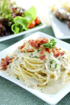 Pasta Carbonara Recipe: The Italian equivalent of mac n cheese, pasta carbonara is the ultimate comfort food. Its also surprisingly easy to prepare; simply toss linguine and bacon with a simple sauce of egg yolks, Parmesan, salt and pepper.