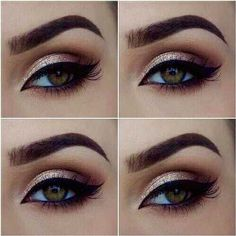 beautiful makeup for hazel eyes