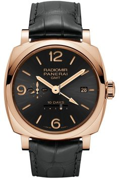 6cf5452412b Panerai  NEW  Radiomir 1940 10 Days GMT Automatic Oro Rosso PAM 625 (Retail