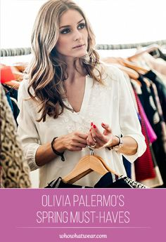 Olivia Palermo's Spring Shopping List! #Exclusive