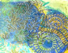 """Why Do I Need a Round Gelli Plate? Blog post about the 8"""" x 8"""" Round Gelli printing plate!  Judy Gula - Mixed Media Fiber Artist"""
