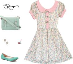 """""""Pastel Spring/Summer Casual"""" by andthestorm on Polyvore"""