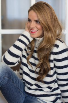 Slouchy Striped Sweater.