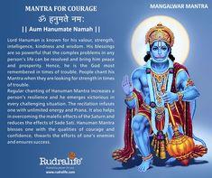 Mantra for Courage Hanuman Murti, Shri Hanuman, Durga, Vedic Mantras, Hindu Mantras, Hanuman Ji Wallpapers, Indiana, Sanskrit Mantra, Hindu Rituals
