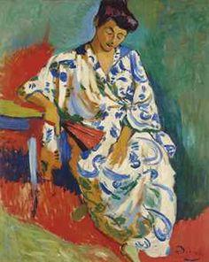 Andre Derain (1880-1954)   Madame Matisse au kimono