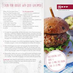 Even if the sun's not shining you can recreate the fun of a BBQ indoors with our Neff Griddle Plate (available from www.neff-eshop.com). It's great for making our Cajun Pork Burgers.