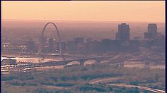 The Mississippi rolls past the #STL skyline on a Wednesday afternoon via SkyFOX helicopter --------- #saintloius #skyline #mississippi #mississippiriver