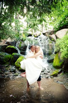 Love the picture in the water with the beautiful waterfall! Photo by Troy. #MinneapolisWeddingPhotographer #WeddingPhotography