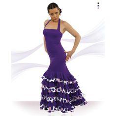 Vestido con escote palabra de honor, colin y ocho volantes. ¡lo puedes personalizar tu misma eligiendo colores y tejidos!
