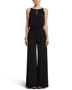 REWARD when I'm back to normal or better. White House | Black Market Wide Leg Keyhole Jumpsuit #whbm