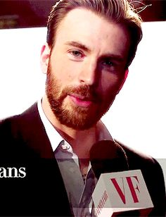 Chris Evans. How can one grown man be so stinking adorable?