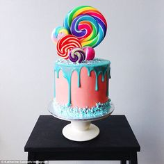 Edible works of art: Katherine Sabbath has gained 'Insta-fame' thanks to her incredible rainbow cakes