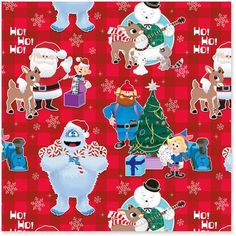 Rudolph the Red-Nosed Reindeer® Jumbo Christmas Wrapping Paper Roll, 80 sq. Christmas Art Projects, Christmas Paper, Christmas Wrapping, Christmas Crafts, Christmas 2019, Rudolph Red Nosed Reindeer, Rudolph Christmas, Rudolph The Red, Christmas Door Decorating Contest