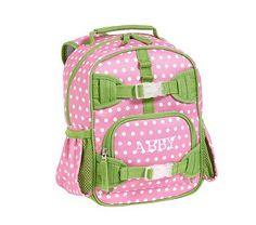 Mackenzie Pink Dot Backpacks #PotteryBarnKids