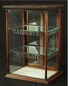 Cadbury's Chocolates shop display cabinet