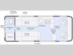 11 Must-See Class B Motorhome Floor Plans – Camper Report Travel Trailer Floor Plans, Rv Floor Plans, General Motors, Land Rover Defender, Sprinter Rv, Sprinter Conversion, Class B Motorhomes, Leisure Travel Vans, Pleasure Way