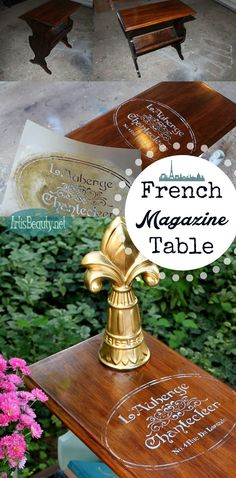 ART IS BEAUTY: French Magazine Table Makeover #decoartprojects #chalkyfinish #americanadecor