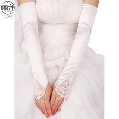 5色結婚式の手袋指なしロングに肘スタチンbeades gants細工用花嫁ウェディングアクセサリーホットCK210
