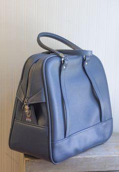 Blue Train Case Lock Key // Vintage Suitcase | Vintage suitcases ...