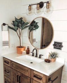 Bathroom inspo care of Bathroom Inspo, Bathroom Inspiration, Bathroom Ideas, Bathroom Renos, Small Bathroom, Modern Boho Bathroom, Girl Bathrooms, Ikea Bathroom, Minimalist Bathroom
