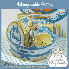 Cajita para cupcake o golosinas especial, http://www.tarjetasimprimibles.com.ar/producto/5837/cajita-para-cupcakes-especial-patitos/