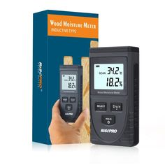 Wood Moisture Meter, RISEPRO Digital Moisture Meter Non-Invasive Inductive Wood  #RISEPRO