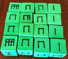 Foam rhythm blocks. So many uses.  See my Make it Take It Day post.