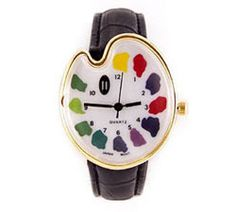 Artist palette watch is one of our art teacher gift ideas they'll really love. Free US shipping!