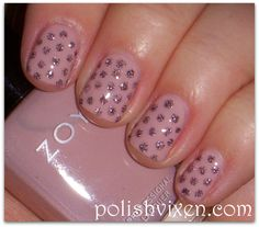 Light Pink w/Silver Polka Dots