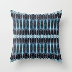 Buy Geometric pattern in blue Throw Pillow by VanessaGF. Worldwide shipping available at Society6.com. Just one of millions of high quality products available.   #geometric, #pattern, #blue, #shapes, #triangles, #lines, #vectors, #pillow,