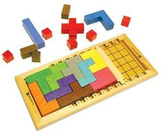 Katamino: An ever-changing puzzle challenging spatial reasoning and problem solving. Also available in beautiful natural wood tones. Here is a video http://www.marblesthebrainstore.com/katamino-deluxe #Games #Puzzles #Spatial_Reasoning #Katamino