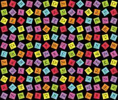 Topsy Turvy Periodic (Dark) fabric by robyriker on Spoonflower - custom fabric