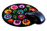 Black Lowicz Folk Art Mouse Pad