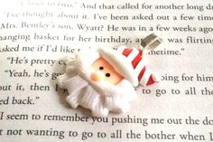 Santa Button Pendant by LaleePops82 on Etsy