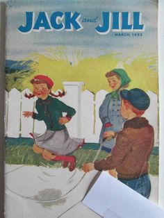 1953 Jack and Jill March Issue..Jumping Rope..childrens stories and activities