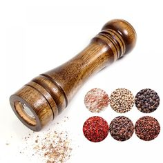 "Universe of goods - Buy ""Salt and Pepper Mill, Solid Wood Pepper Mill with Strong Adjustable Ceramic Grinder 5 8 10 - Kitchen Tools by Leeseph"" for only USD. Salt And Pepper Mills, Salt And Pepper Grinders, Kitchen Taps, Buy Kitchen, Wooden Kitchen, Wooden Pepper Mill, Pepper Spice, Spice Grinder, Kitchen Tools And Gadgets"