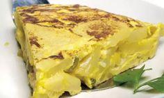 Receta de Tortilla de patatas o tortilla española, receta fácil