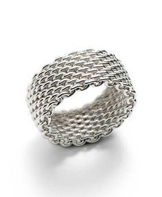 My favorite everyday ring - Tiffany & Co mesh ring.