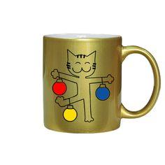 """Чашка золотистая """"С Новым Годом!"""""""