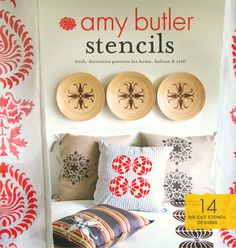Amy Butler has a stencil collection? This could be exactly what I need to paint a rug on the floor of my back porch.