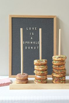 Great way to have a donut display at your wedding!