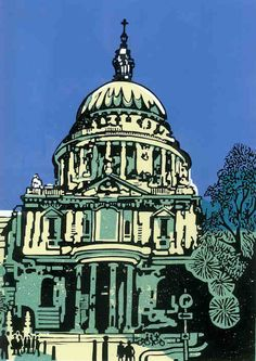 Jason Clarke Linocut St Paul's London