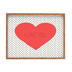Dot & Bo Like Note Rectangular Tray (180 ILS) ❤ liked on Polyvore featuring home, home decor, small item storage, bamboo tray, bamboo home decor, cross home decor, rectangle tray and retro home decor
