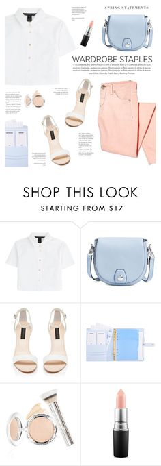 """""""White Shirt - Polyvore contest"""" by yexyka ❤ liked on Polyvore featuring Marc by Marc Jacobs, rag & bone, Forever New, It Cosmetics, MAC Cosmetics, Folio and WardrobeStaples"""