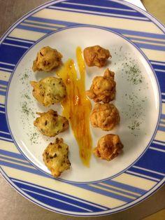 Buñuelos de espinacas y champiñones