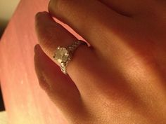My husband proposed with a beautiful antique engagement ring from 1851...my kind of fashion, my kind of husband!