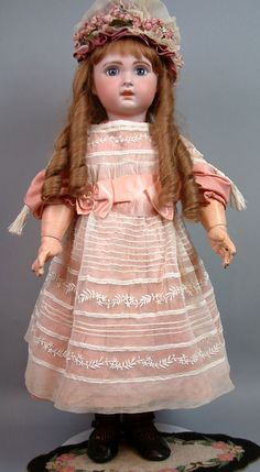 """25"""" FRENCH Jumeau Antique French Bebe Doll Size 12"""