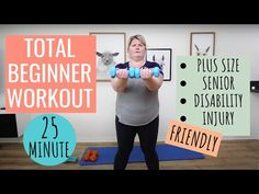 Realistic Full Body Modified Beginner Dumbbell Workout / All Standing / Low Impact (Easy on Knees)