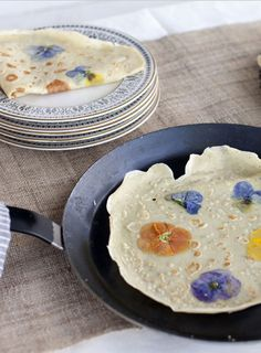 Pansy Petal Pancake Crepe Recipe - Beautiful Cooking with Edible Flowers