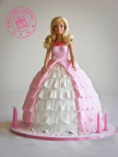 Barbie Cake - A gorgeous birthday cake for a 4 year old girl.  Barbie is chocolate cake filled with chocolate ganache and covered in fondant.